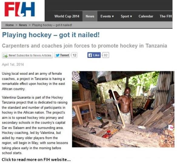 hockey tanzania FIH