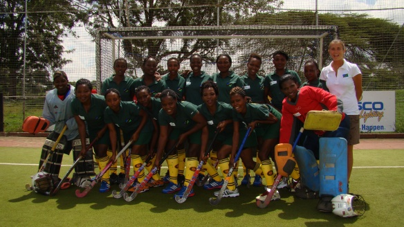 The Tanzania team before the last game against Kenya for the 3° & 4°