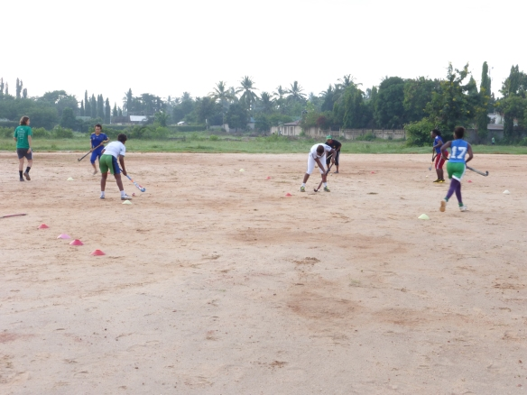 Nuru, Pendo, Zuena e Beby, some of the new players! Karibu training!