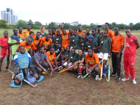 University Hockey Team together with the Women Hockey team TWENDE